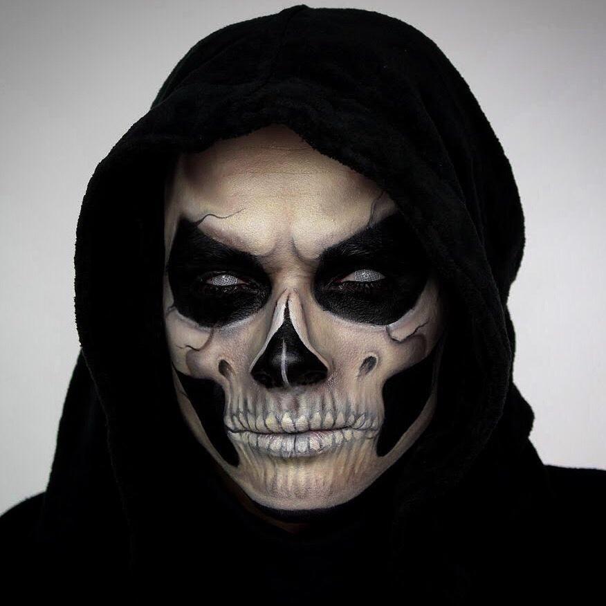 Grim Reaper Skull Face Zipper Pull