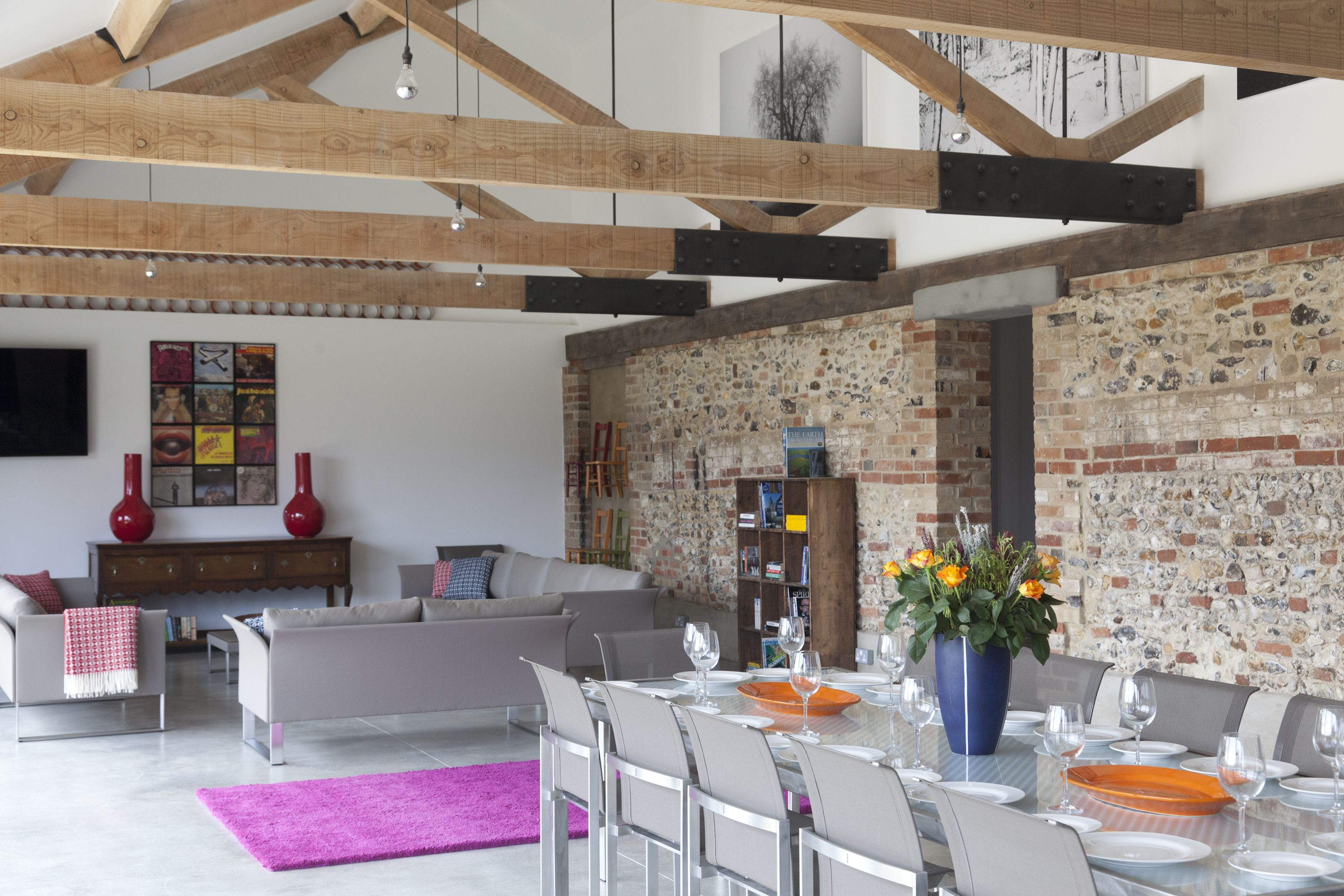 The Cattle Sheds Barn living, Furniture project plans
