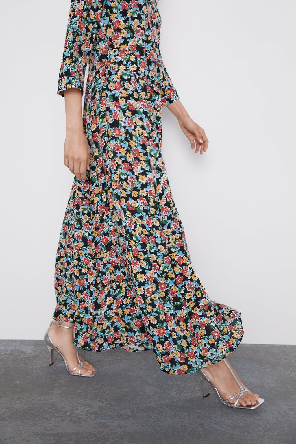 Vestido Largo Estampado Floral Vestidos Flores Vestidos Mujer Zara España Floral Print Dress Long Floral Print Maxi Dress Maxi Dress