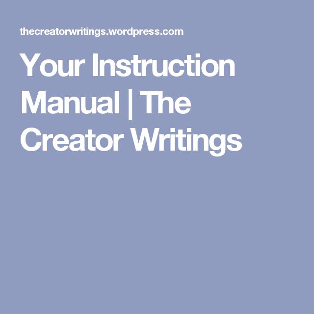 Your Instruction Manual Instruction Writing Manual