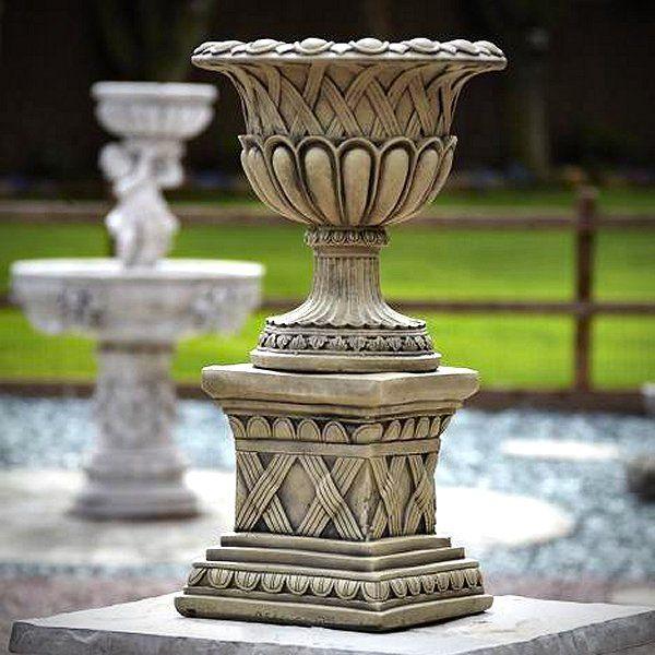 Stone Garden Urns, Outdoor Wooden Planters, Large Plant Pots