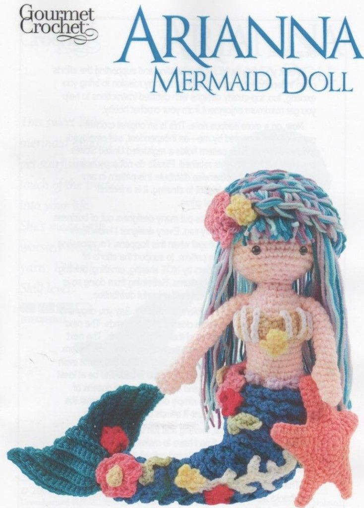 Mermaid Crochet Doll Pattern | Mermaids | Pinterest | Sirenitas y ...