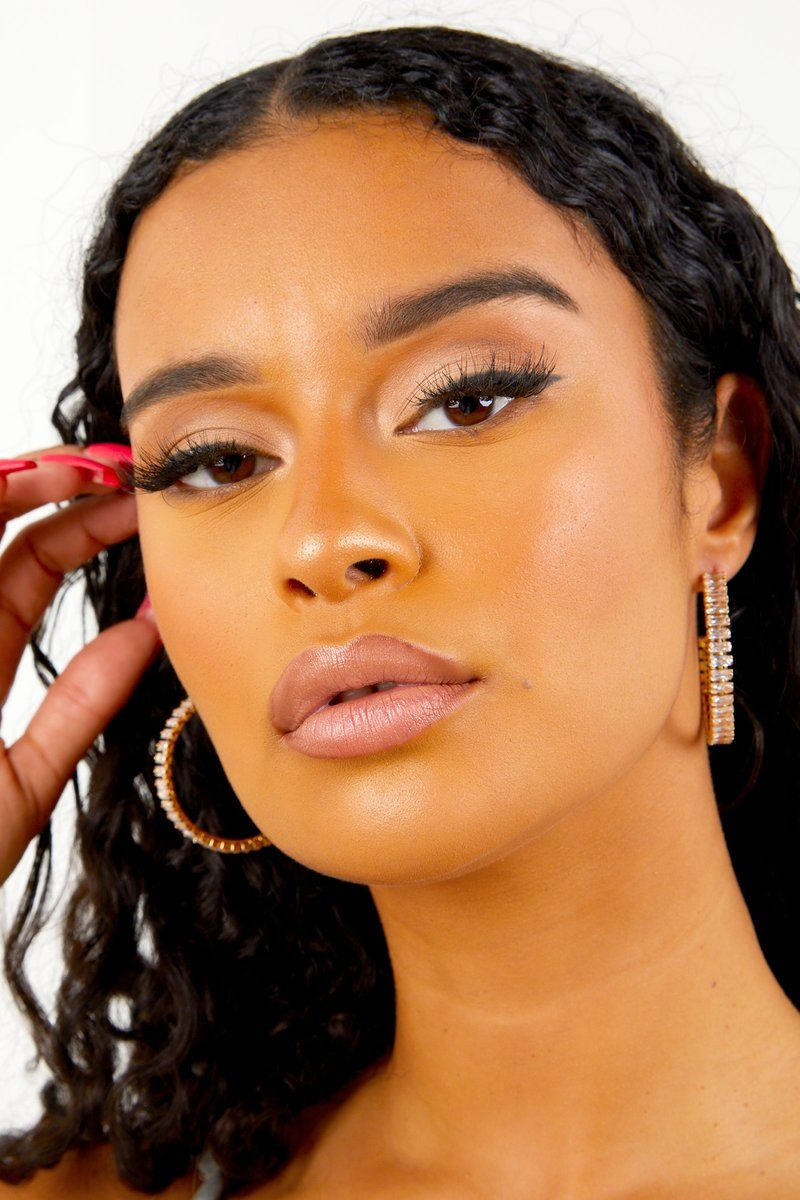Gold Diamante Open Back Earrings in 2020 Accessories