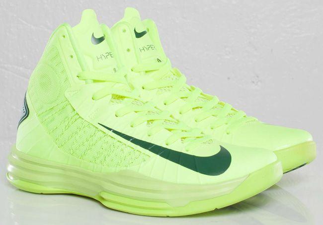 promo code 38ce6 fa06e Nike Shoes · Womens Hyperdunks 2012 Team Brazil Volt Green