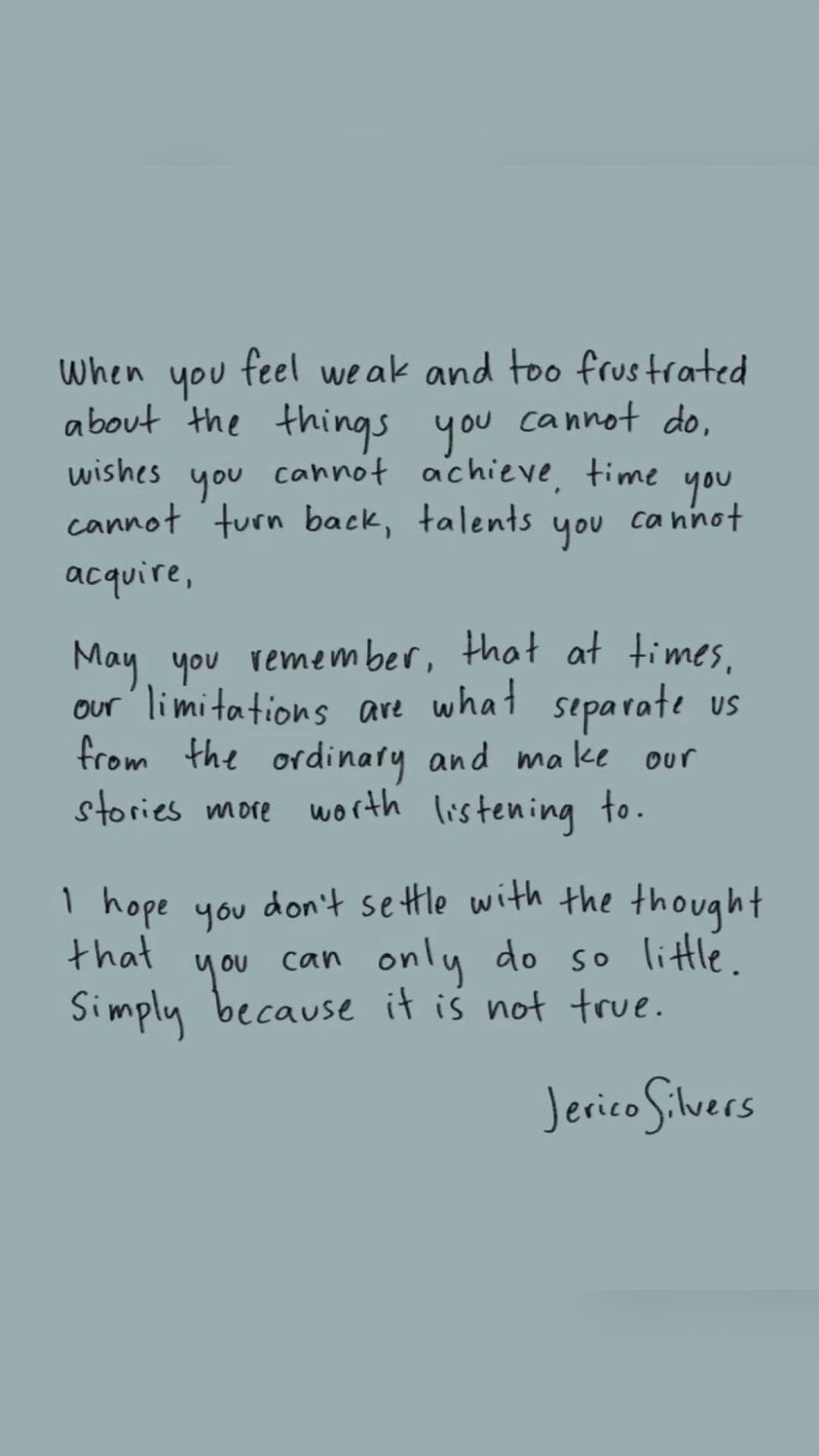 Words by Jerico Silvers