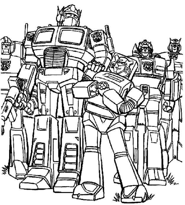 coloring book transformers