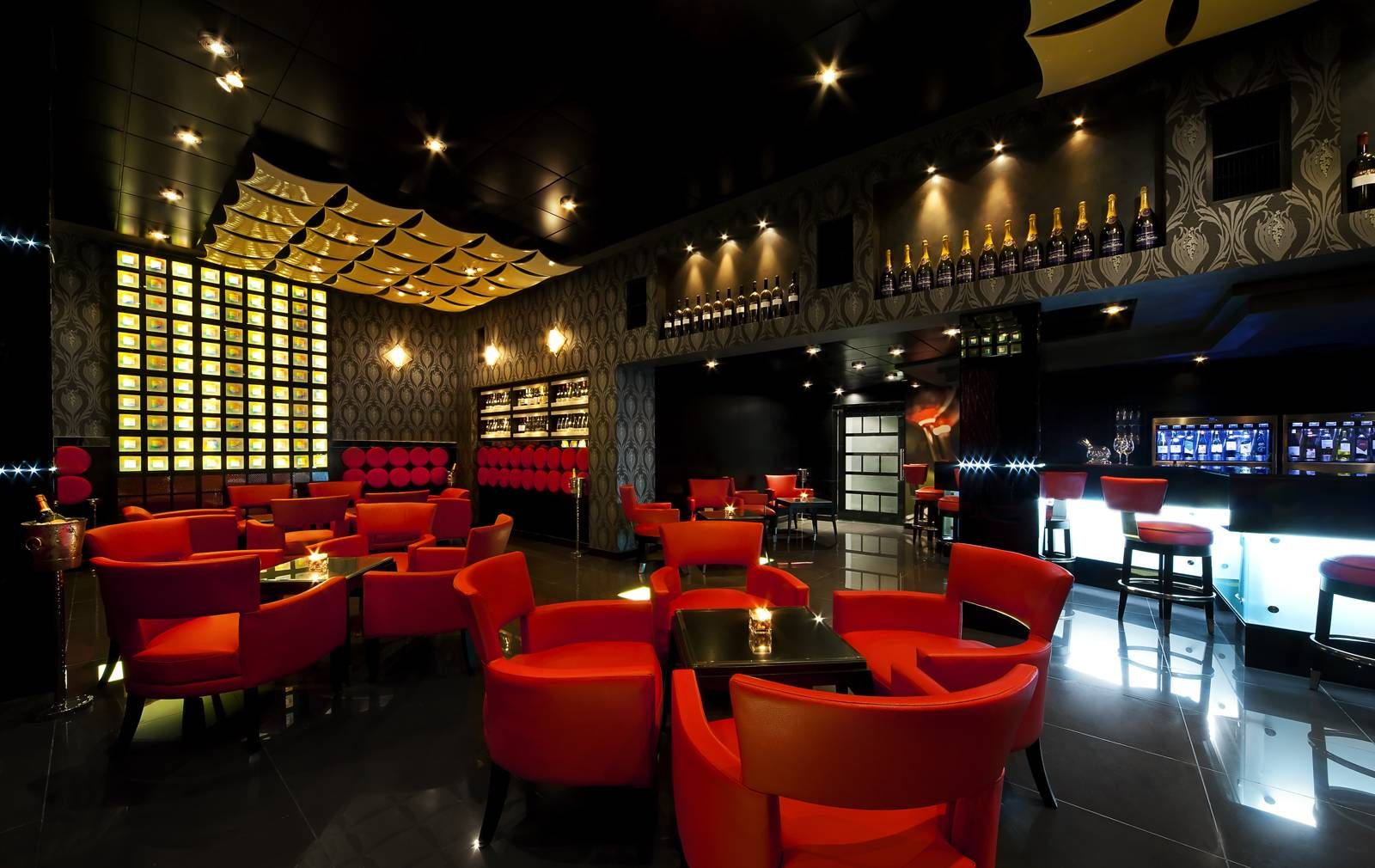 Vintage wine bar wine bar and lounge in bahrain the - Interior design for hotels and restaurants ...
