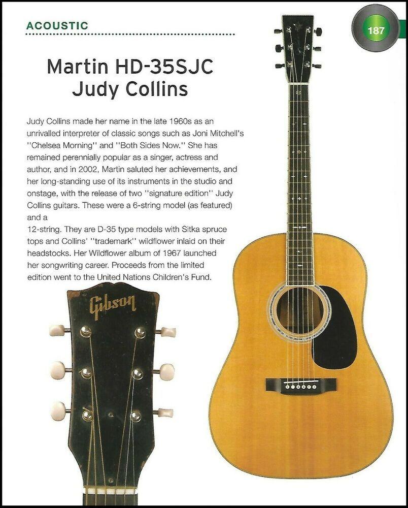 2002 Martin Hd 35sjc Hd12 35sjc Judy Collins Acoustic Guitar History Article Martin Guitar Acoustic Guitar Martin Acoustic Guitar
