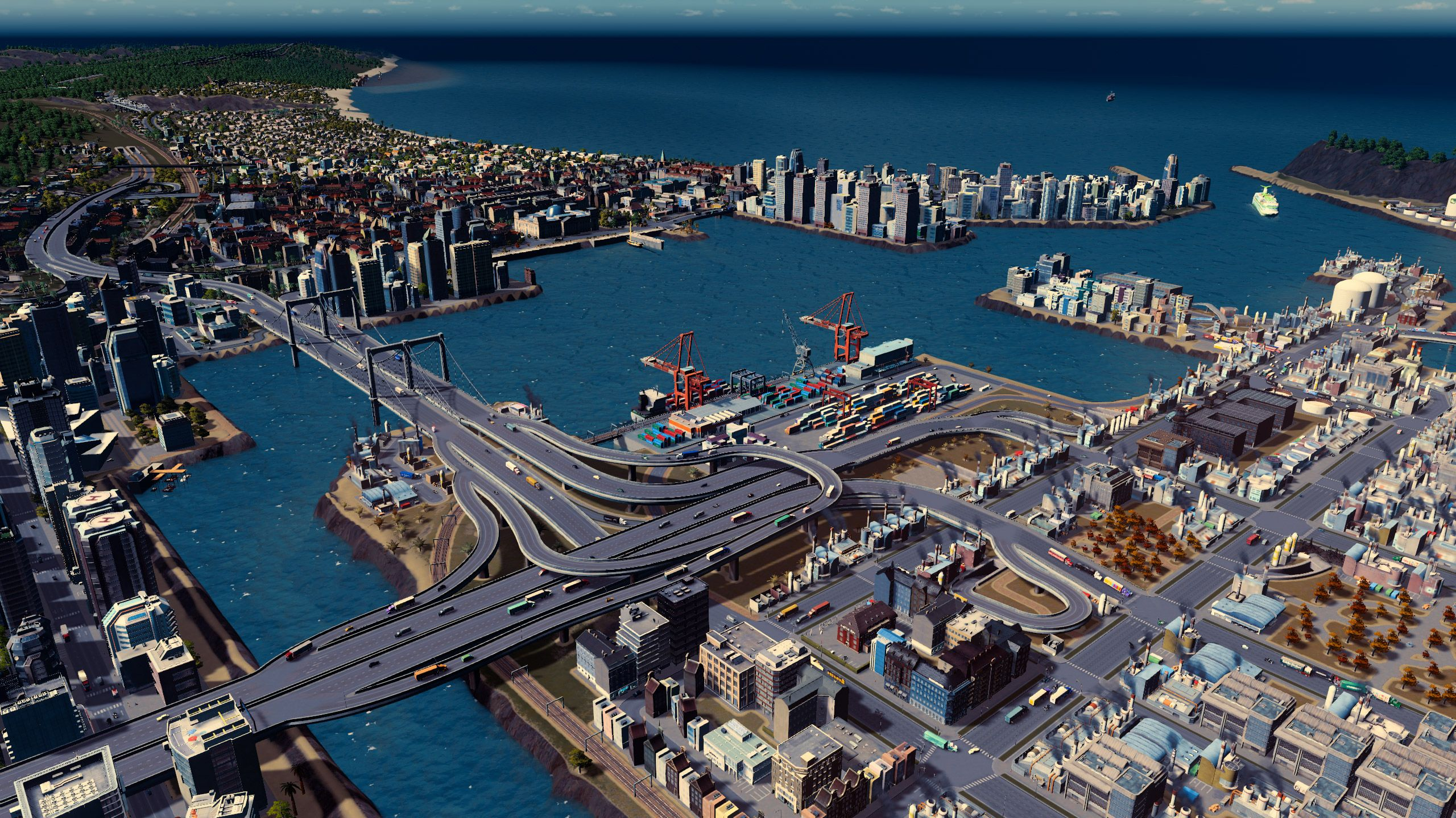 Welcome To Port Tropico City Skyline City Skylines Game City Layout