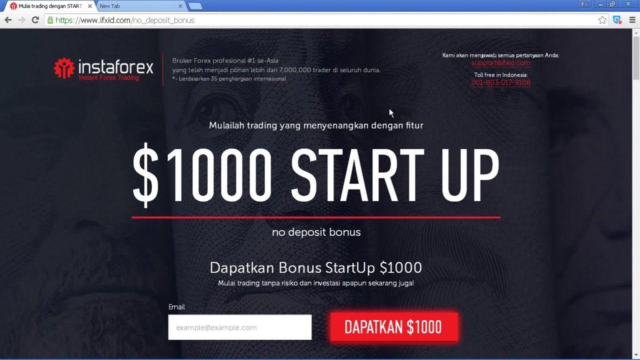 bonus trading forex tanpa deposit