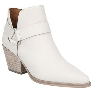 694095259 Shop for Sarto by Franco Sarto Women's Louella Ankle Bootie White Leather.  Get free delivery at Overstock.com - Your Online Shoes Shop!
