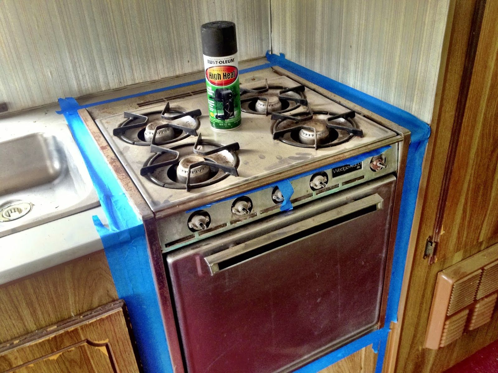 painting an oven with high heat rust oleum gloss finish rv