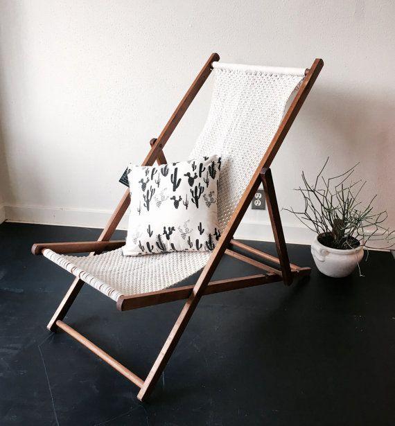 Macrame Sling Chair Sling Chair Chair Macrame Chairs