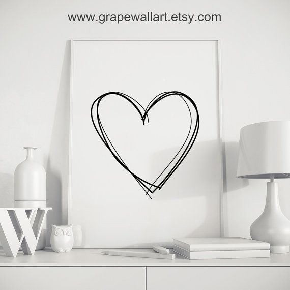 valentinstag geschenk kunst f r ihn herz schwarz von grapewallart poster herz pinterest. Black Bedroom Furniture Sets. Home Design Ideas