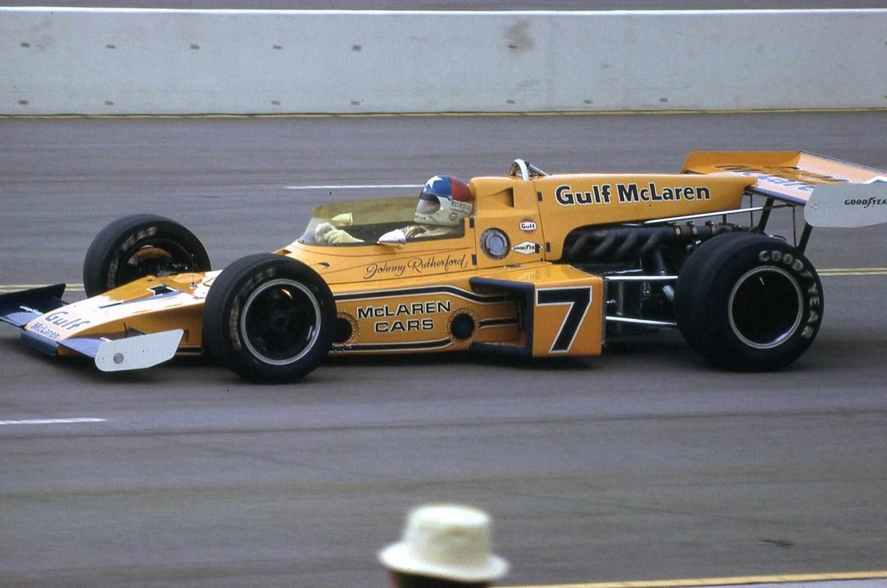 Johnny Rutherford California Ontario Speedway Mclaren M