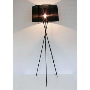 große Design Stehleuchte, Schirm organza schwarz, 173cm, Mingan 10317: Amazon.de: Beleuchtung