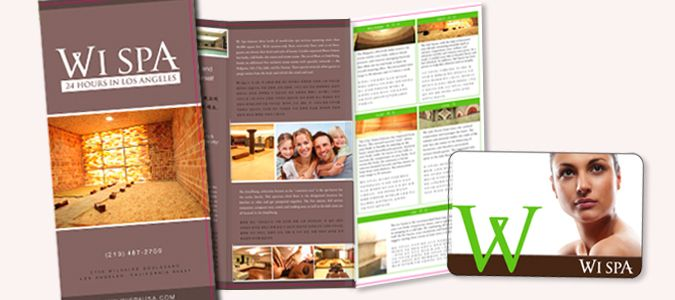 Wi Spa Brochure And Gift Card Design By Ready Artwork Los Angeles