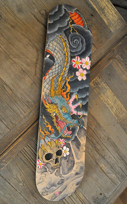 Custom skateboard 2 by juan arias illustration - Skateboard dessin ...
