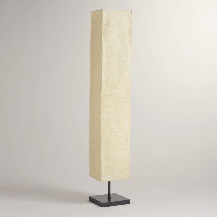 Rice Paper Lantern Floor Lamp Replacement Shade 10696com Ikea Orgel Vreten Natural Steel