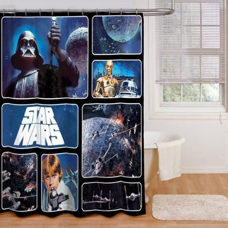 Star Wars Fabric Shower Curtain With Images Star Wars Bathroom
