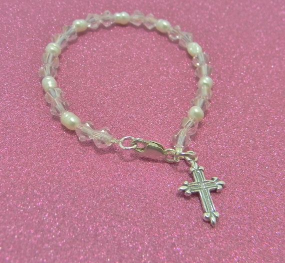 Sterling Silver Baby Bracelet Great by TheQueensCottage on Etsy, $19.99