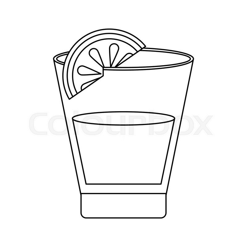 Stock Vector Of Tequila Shot With Lemon Vector Illustration Graphic Design Tequila Shots Tequila Shots Glass Tequila