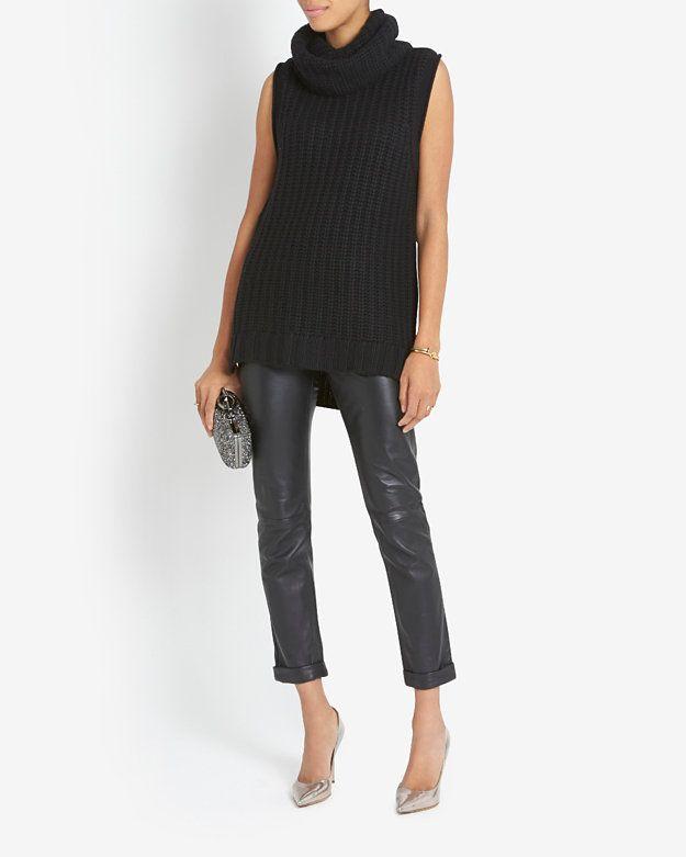564ac8974aa Autumn Cashmere Sleeveless Turtleneck Sweater Dress  Black