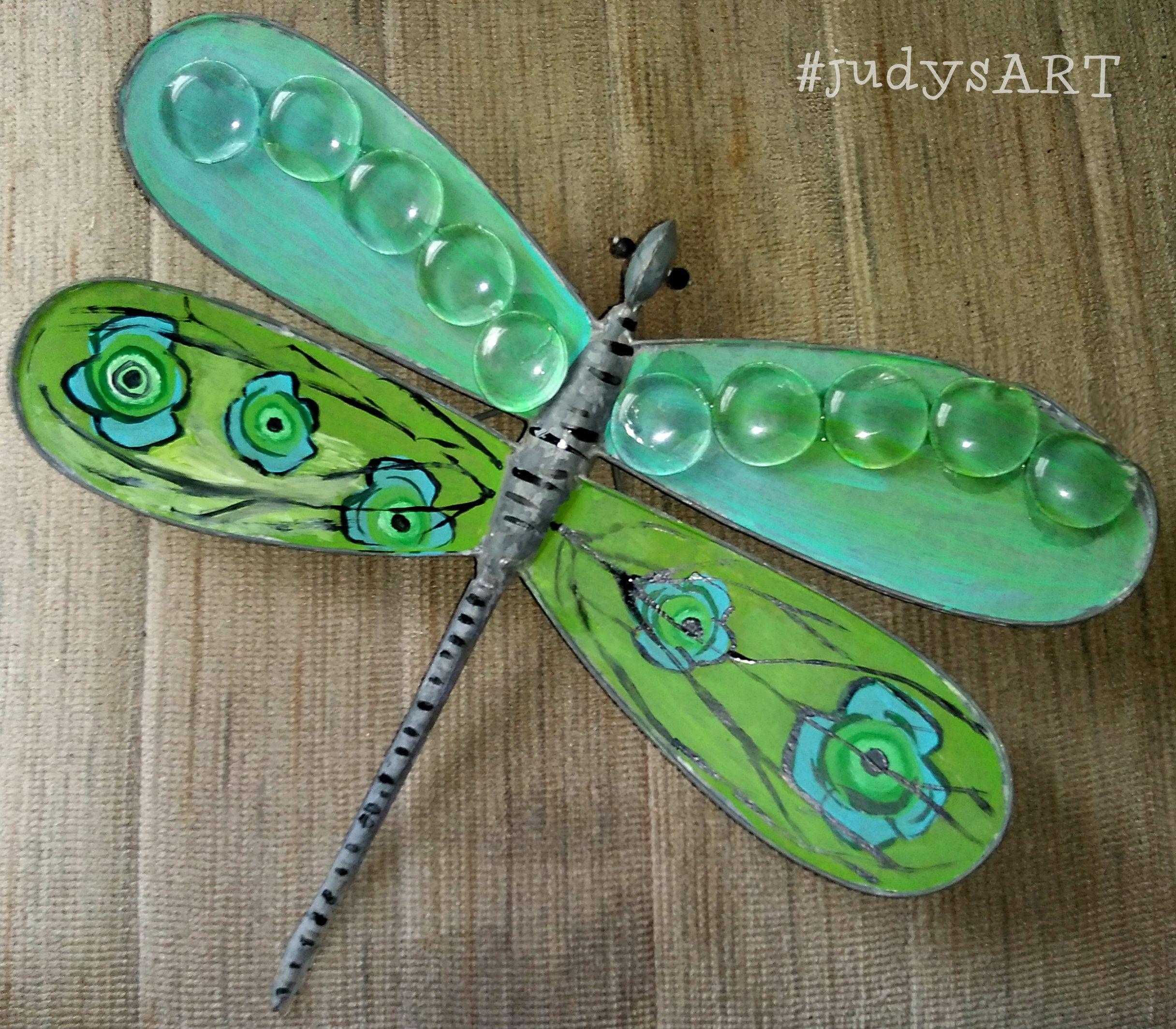 Metal Folk Art Dragonfly by Judy. Garden and Yard Decor. | Judy\'s ...