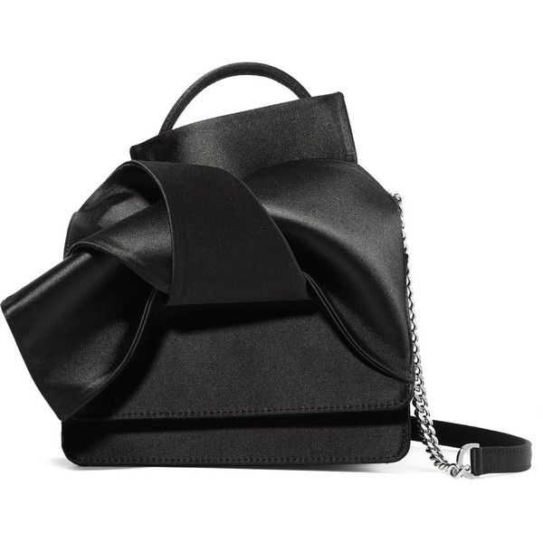 No. 21 Knot satin shoulder bag ( 435) ❤ liked on Polyvore featuring ... 94ba36c4f02cb