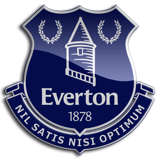 Everton Crest The Latin Phrase Means Only The Best Is Good Enough Logos De Futbol Futbol Europa Equipo De Futbol