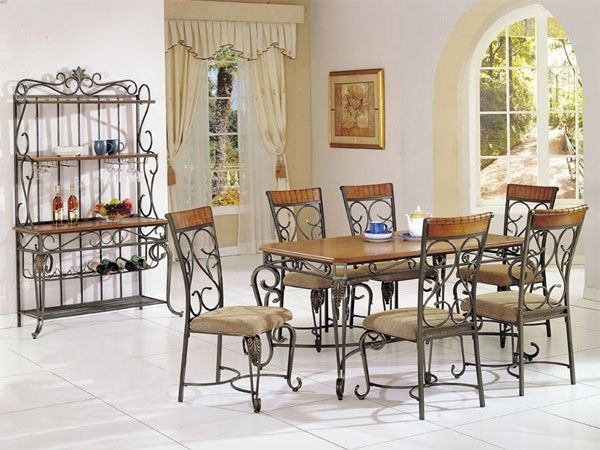 Wrought Iron Dining Set Dining Room Design Dining Table Decor