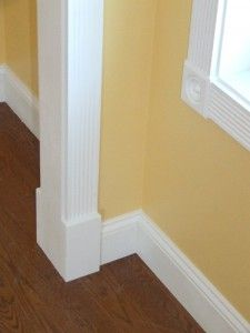 Photos And Information About A House With Colonial Style Fluted Window And Door  Trim. Baseboard ...