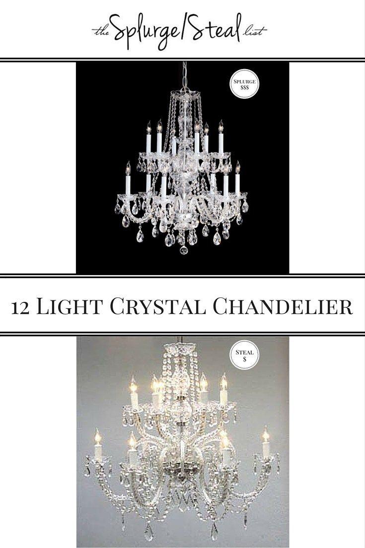 Crystal chandelier splurge vs steal inexpensive crystal chandelier crystal chandelier splurge vs steal inexpensive crystal chandelier aloadofball Image collections