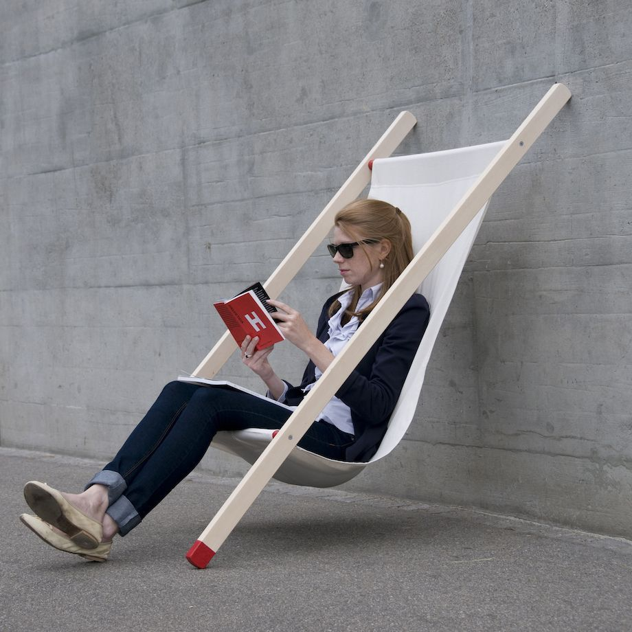 Curt deck chair Lean on chair by BERNHARD | BURKARD