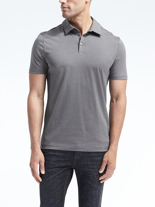 1f42f336 Mercerized Cotton-Modal Polo | Banana Republic Men | Polo, Mens tops ...