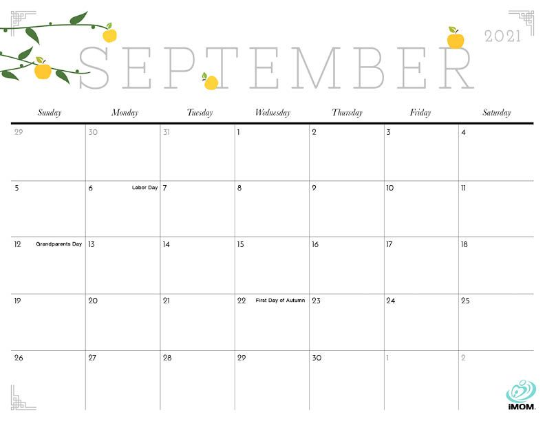2020 and 2021 Cute Printable Calendars for Moms - iMom in ...