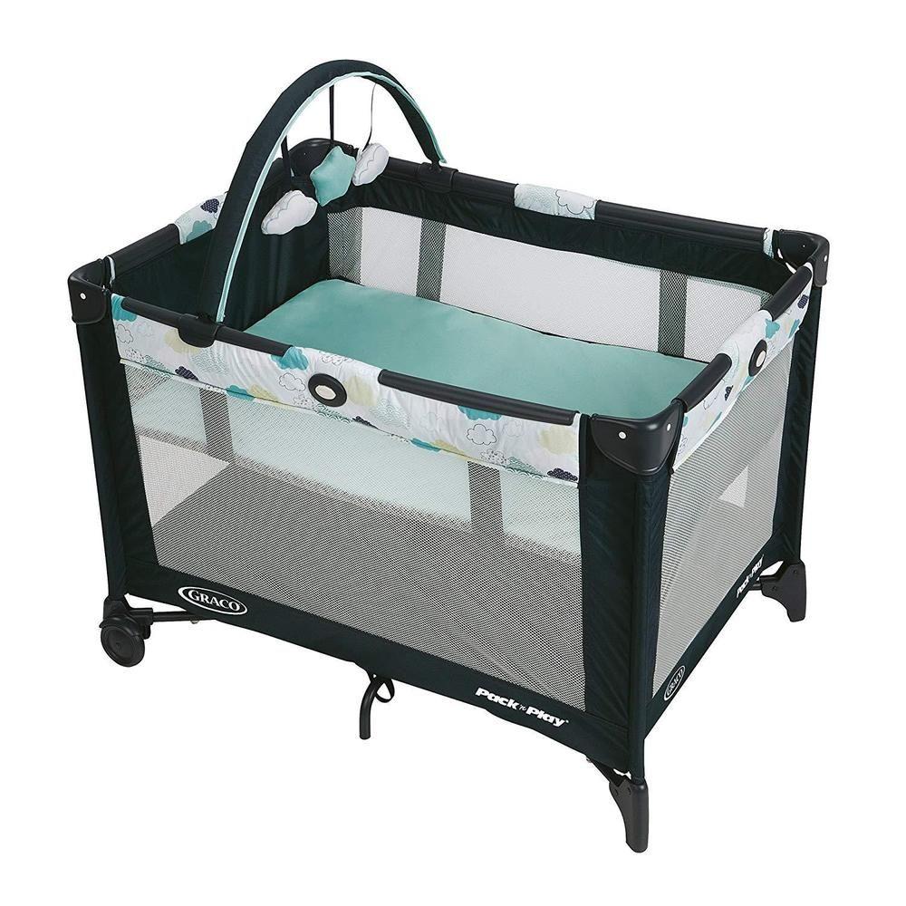 Baby Portable Bassinet Boys Newborn Portable Playpen ...