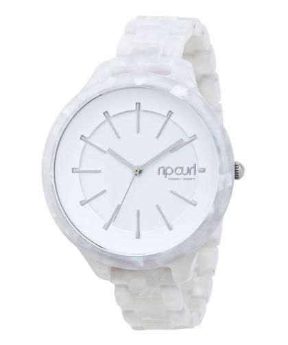 8cdff775b41 Relógio Rip Curl Horizon Acetate - White - Fem   Starpoint (cute but I  love) rip curls Monaco watch in pink and then in with flowers more.