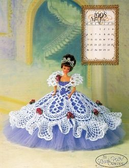 """The cover of the """"Miss July 1998"""" crochet pattern by Annie Potter"""