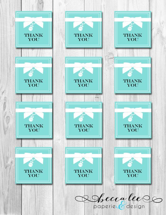 36032f1ebe INSTANT DOWNLOAD - Baby & Co Favor Tags - Tiffany Inspired Baby Shower -  DIY - Printable on Etsy, $4.00