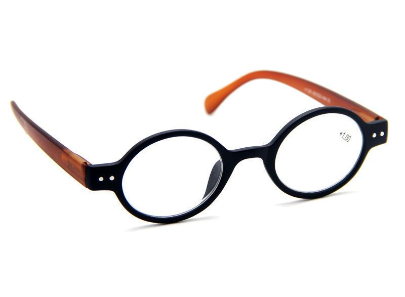 348e916d55d Thick Rim Frame SMALL ROUND RETRO READERS READING GLASSES EYEWEARS SPRING  HINGES  Unbranded