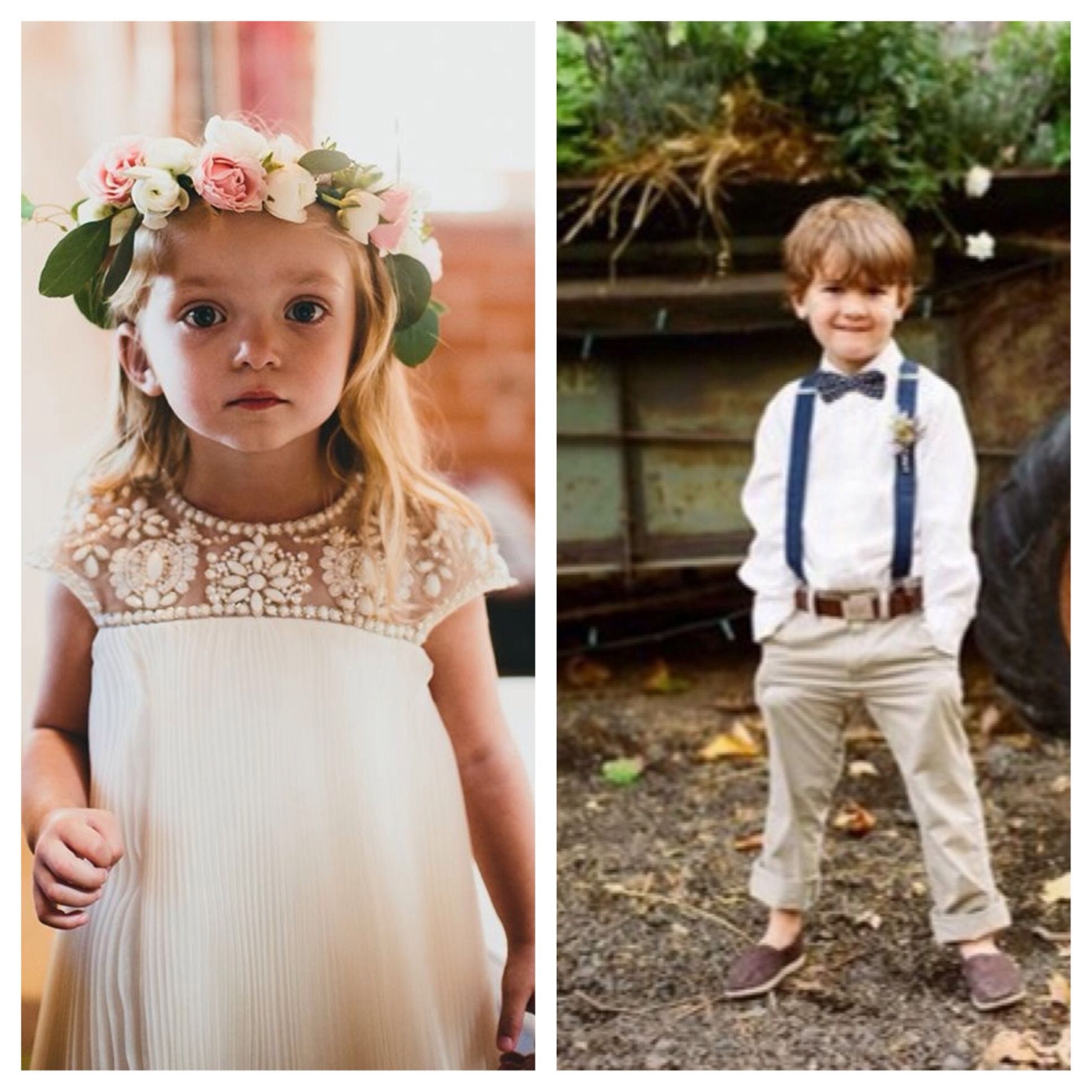 Marchesa For Target Flower Girl Dress And Ring Bearer Outfit Navy