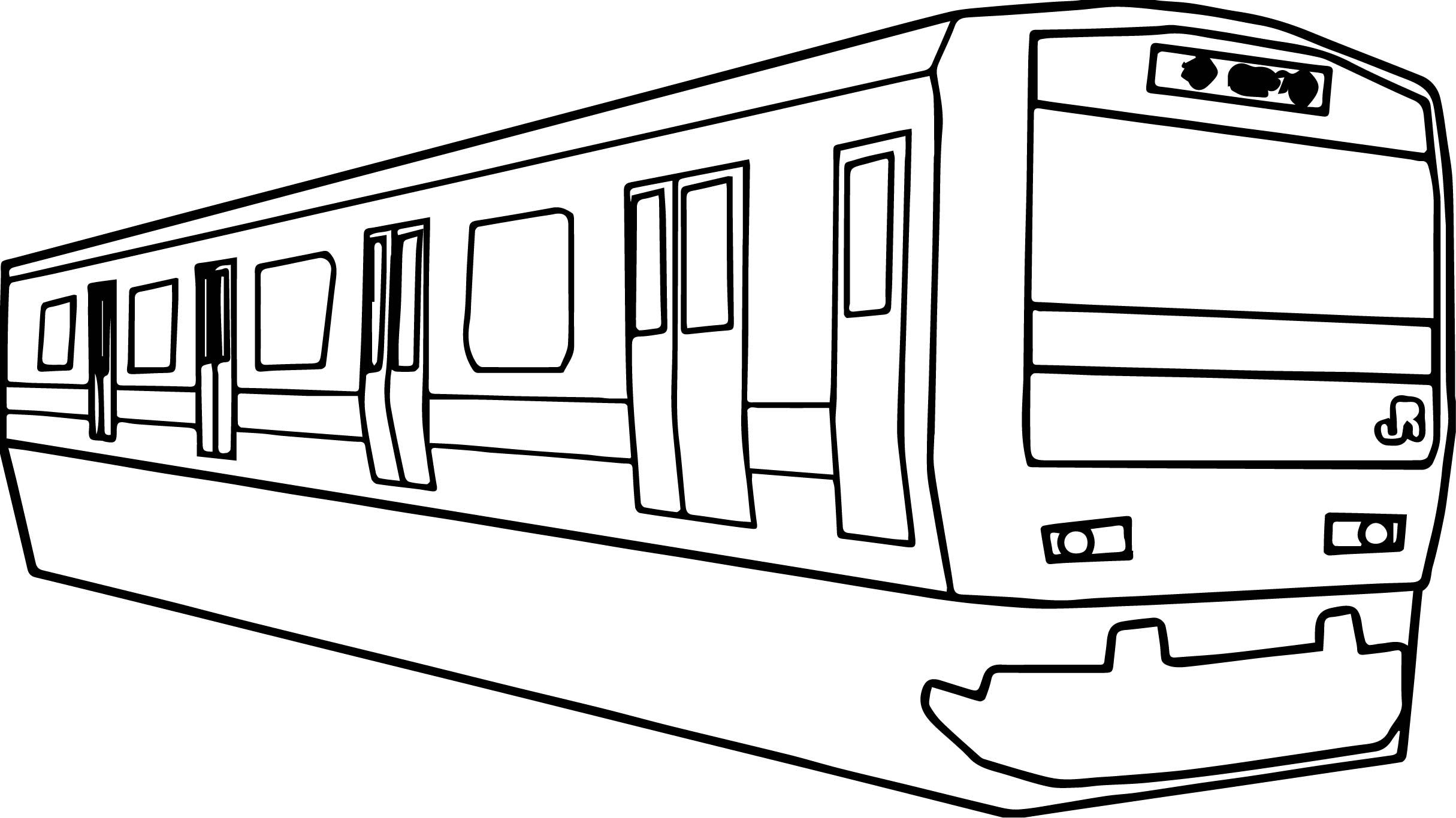 Awesome Any Yamanote Train Coloring Page Train Coloring Pages