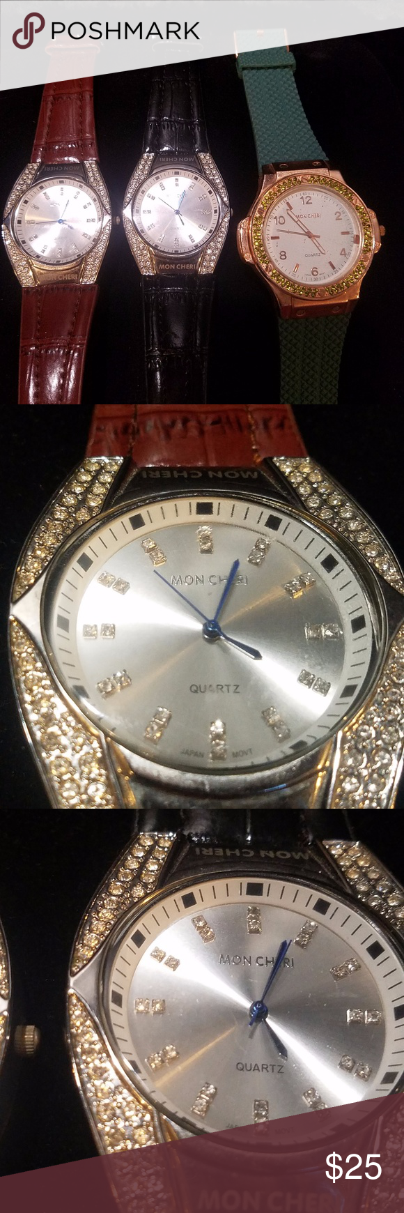 Mon Cheri watch lot You are buying a lot of 3 Mon Cheri