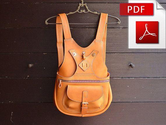 Leather backpack pattern. PDF | Rucksäcke, Leder und Nähen