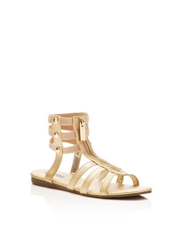 Michael Kors Girls' Demi Codie Metallic Gladiator Sandals - Toddler, Little Kid, Big Kid