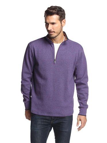 Robert Graham Mens Eli 1//4 Zip Mock Sweater