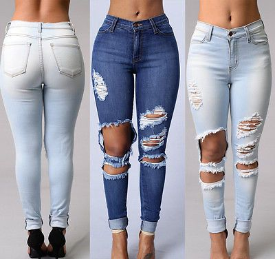 Stretch Jeans For Women Elastic Autumn Jeans Woman Skinny Trousers High Waist Womens Jeans Plus Size Femme Black Womens Pants