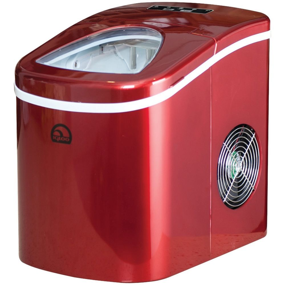 Ice Maker Machine Compact Portable Countertop Sonic Ice Cube Quiet Dispenser Red Igloo Ice Icemaker Icemac Igloo Ice Nugget Ice Maker Primitive Dining Rooms
