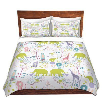 East Urban Home Circus Pastel Duvet Cover Set Size 1